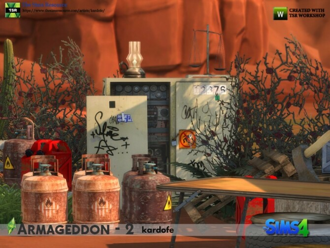 Armageddon 2 set by kardofe at TSR image 735 670x503 Sims 4 Updates