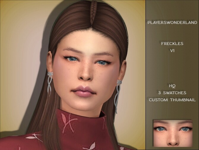 Freckles V1 by PlayersWonderland at TSR image 7513 670x503 Sims 4 Updates
