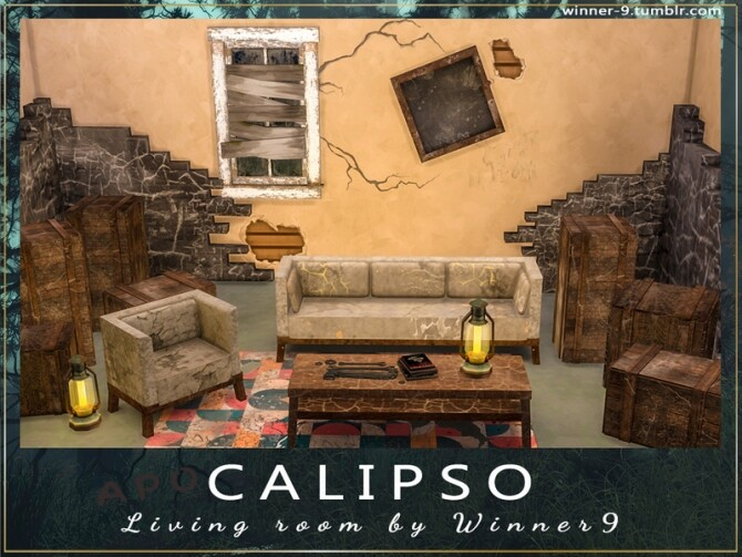 Calipso Living Room by Winner9 at TSR image 76 670x503 Sims 4 Updates