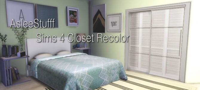 Sims 4 Closet Recolor EA Mesh at Aslee Stuff