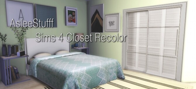 Closet Recolor EA Mesh at Aslee Stuff image 767 670x303 Sims 4 Updates