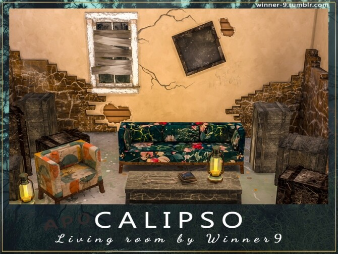 Calipso Living Room by Winner9 at TSR image 77 670x503 Sims 4 Updates