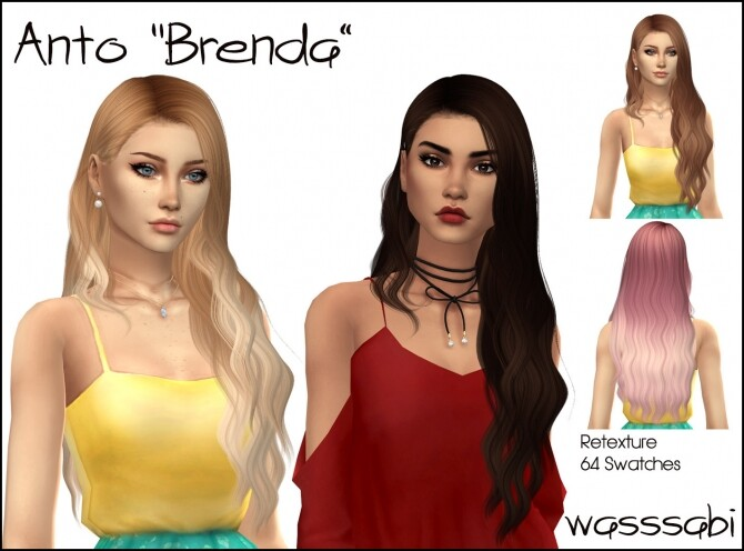 Anto Brenda Hair Retexture at Wasssabi Sims image 7715 670x496 Sims 4 Updates
