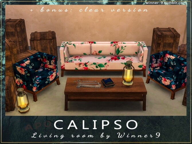 Calipso Living Room by Winner9 at TSR image 78 670x503 Sims 4 Updates