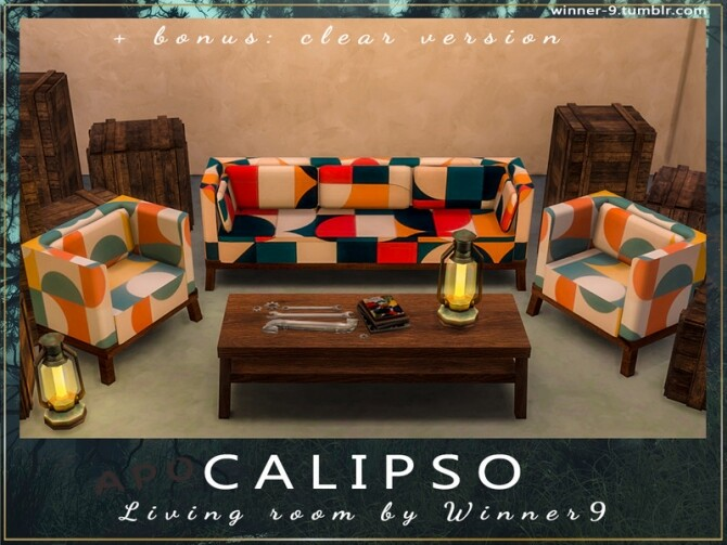 Calipso Living Room by Winner9 at TSR image 79 670x503 Sims 4 Updates