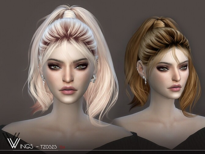 Sims 4 WINGS TZ0528 hair by wingssims at TSR