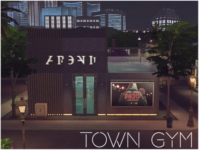 Sims 4 Town Gym by lotsbymanal at TSR