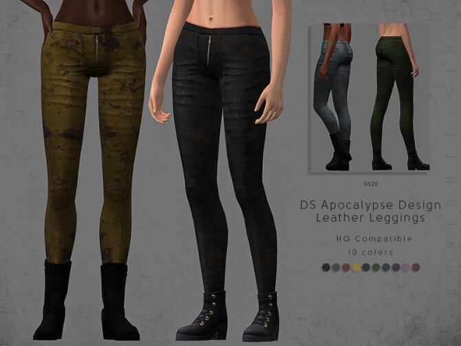 DS Apocalypse Design Leather Leggings by DarkNighTt at TSR image 80 670x503 Sims 4 Updates