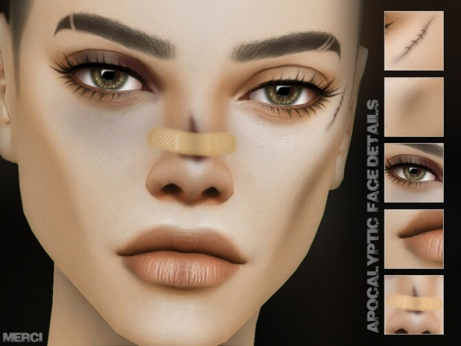 Apocalyptic Face Details by Merci at TSR image 81 670x503 Sims 4 Updates