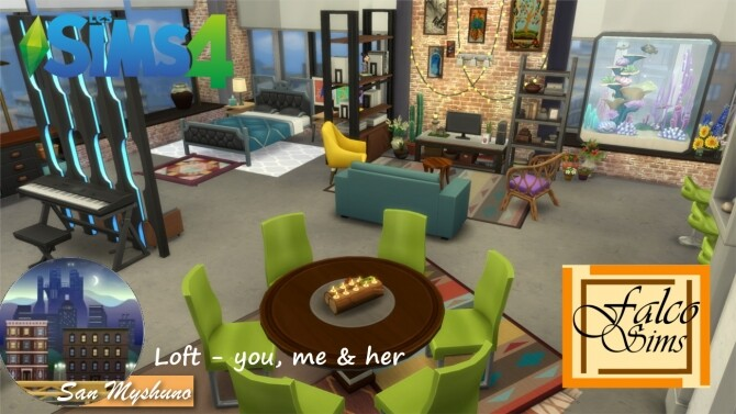 Loft: You, me & her by Falco at L'UniverSims image 8101 670x377 Sims 4 Updates