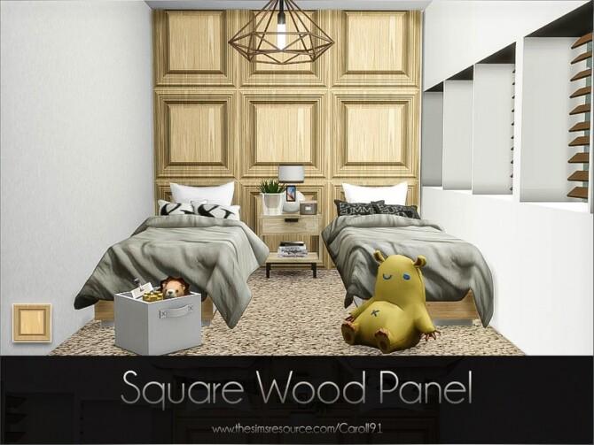 Sims 4 Square Wood Panel by Caroll91 at TSR