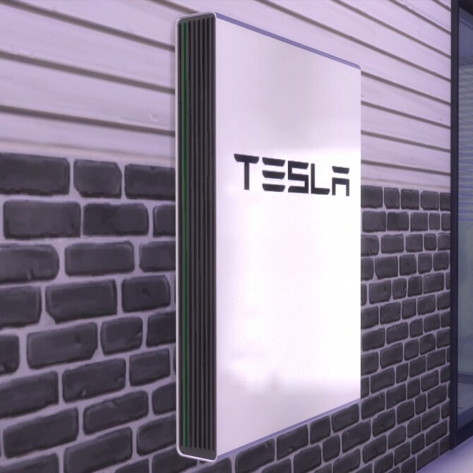 Teslas Powewall wall Decoration by mule123 at Mod The Sims image 8216 670x670 Sims 4 Updates