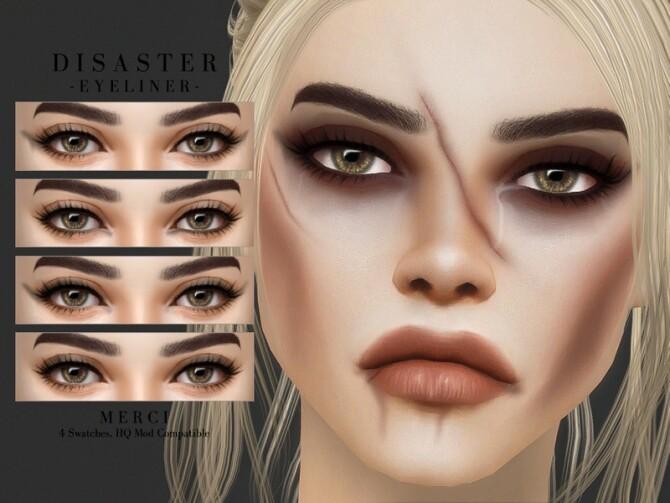 Sims 4 Disaster Eyeliner by Merci at TSR