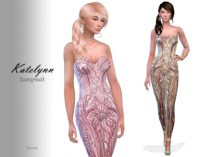 Sims 4 Katelynn Jumpsuit by Suzue at TSR