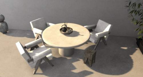 Sims 4 Axel Concrete Table at Hephaestion Sims