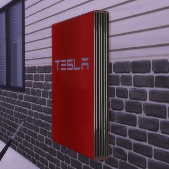 Sims 4 Teslas Powewall wall Decoration by mule123 at Mod The Sims
