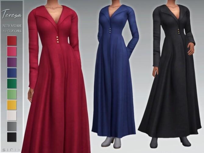 Sims 4 Teresa Coat by Sifix at TSR