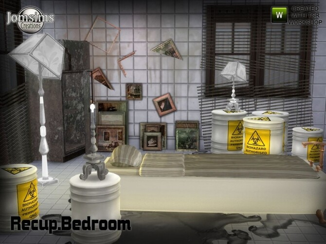 Sims 4 Recup bedroom by jomsims at TSR