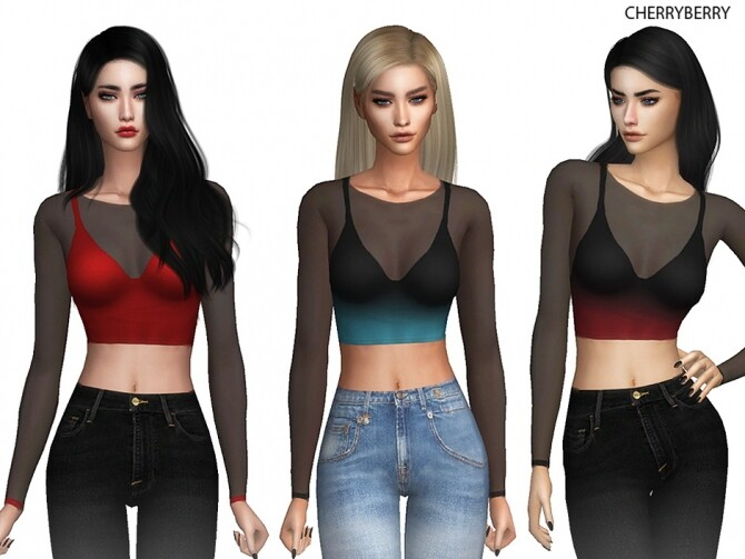 Sims 4 Crop Top at Cherryberry