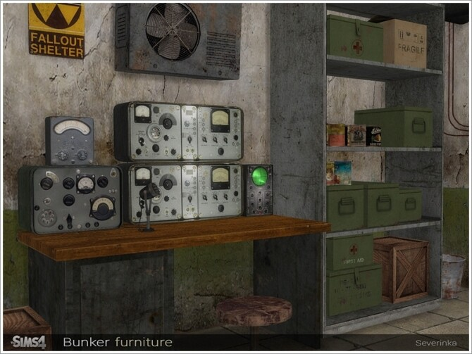 Bunker furniture by Severinka at TSR image 85 670x503 Sims 4 Updates