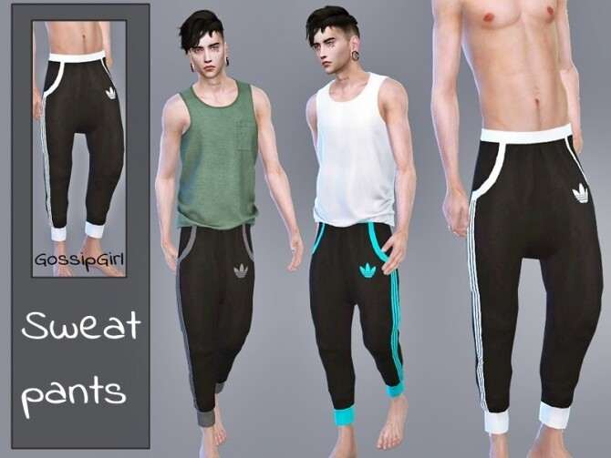Sims 4 Sweatpants Male by GossipGirl S4 at TSR