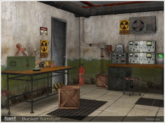Bunker furniture by Severinka at TSR image 86 670x503 Sims 4 Updates