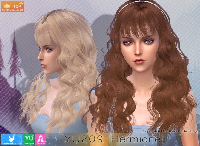 Sims 4 YU209 Hermione hair (P) at Newsea Sims 4
