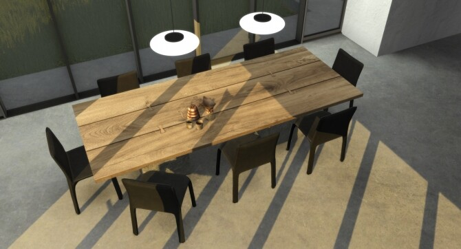 Sims 4 Aurelia Dining Set at Hephaestion Sims