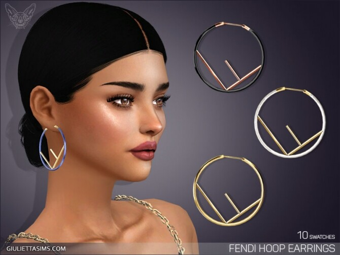 Sims 4 Designer Hoop Earrings at Giulietta