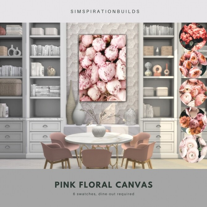 Sims 4 Pink Floral Canvas at Simspiration Builds