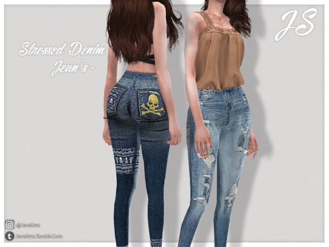 Stressed Denim Jeans by JavaSims at TSR image 920 670x503 Sims 4 Updates