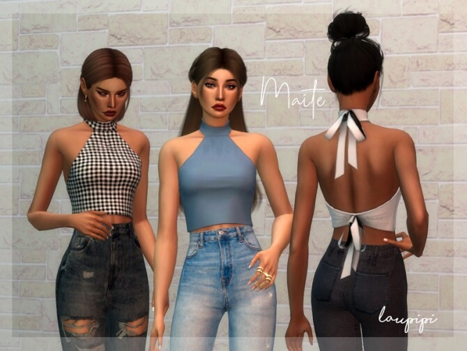 Maite super cute top by laupipi at TSR image 9214 670x503 Sims 4 Updates