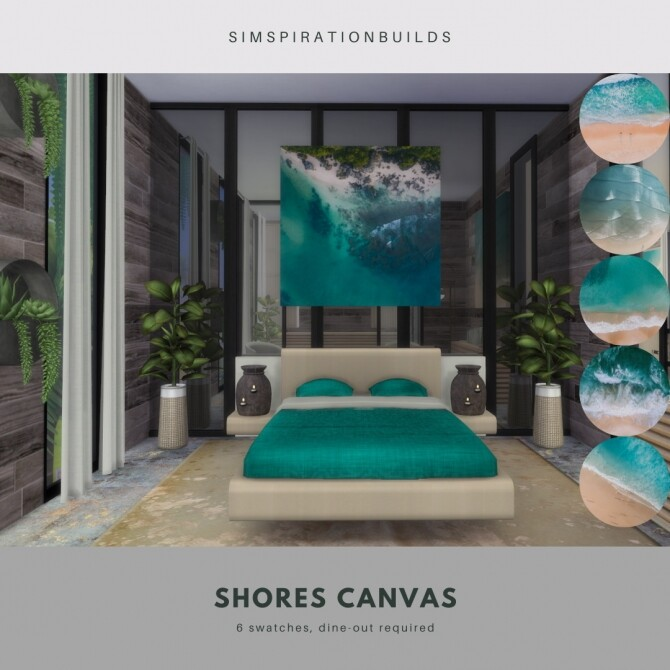 Sims 4 Shore Canvas at Simspiration Builds