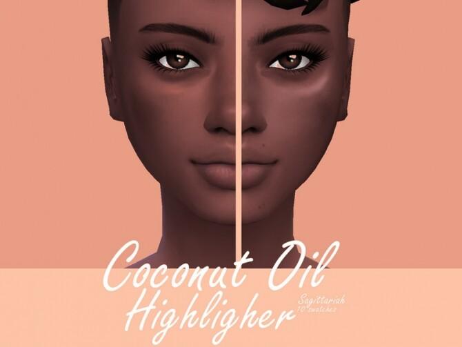 Sims 4 Coconut Oil Highlighter by Sagittariah at TSR