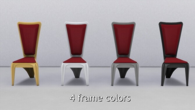 Sims 4 Luxury Dining Table and Chair by TheJim07 at Mod The Sims