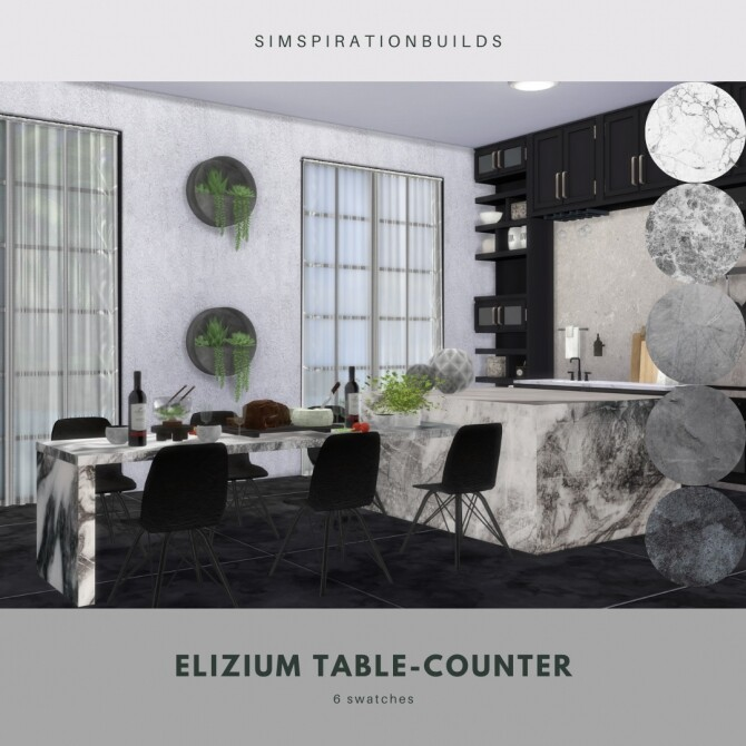 Elizium Table Counter at Simspiration Builds image 9416 670x670 Sims 4 Updates