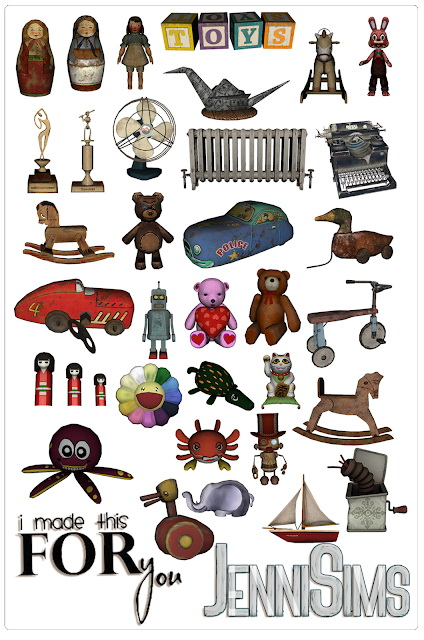 CLUTTER DECORATIVE 33 ITEMS at Jenni Sims image 9514 Sims 4 Updates