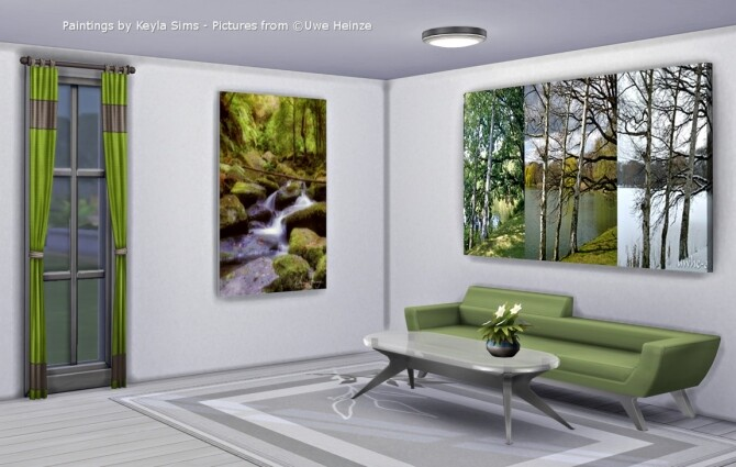 Sims 4 Uwe Heinze paintings at Keyla Sims