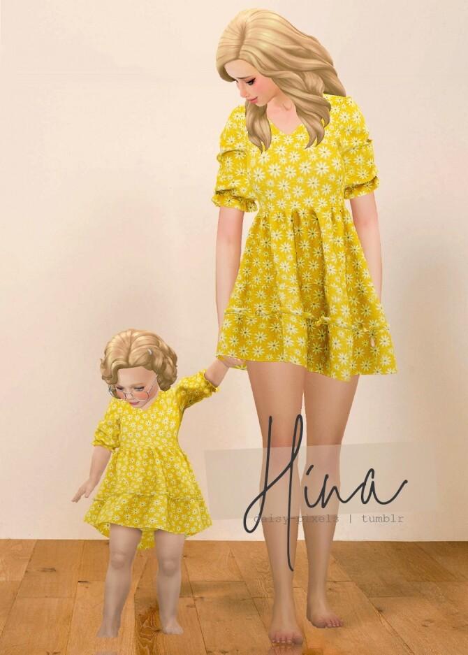 Hina Dress + Tot Version at Daisy Pixels image 9614 670x937 Sims 4 Updates