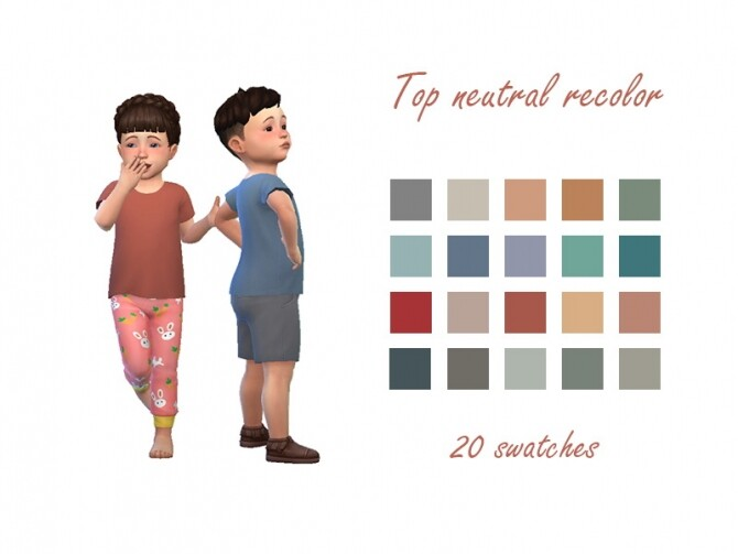 Toddler top recolor at Celinaccsims image 962 670x503 Sims 4 Updates