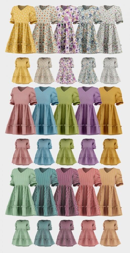 Sims 4 Hina Dress + Tot Version at Daisy Pixels