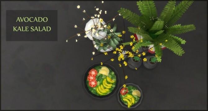 Sims 4 AVOCADO KALE SALAD at Icemunmun