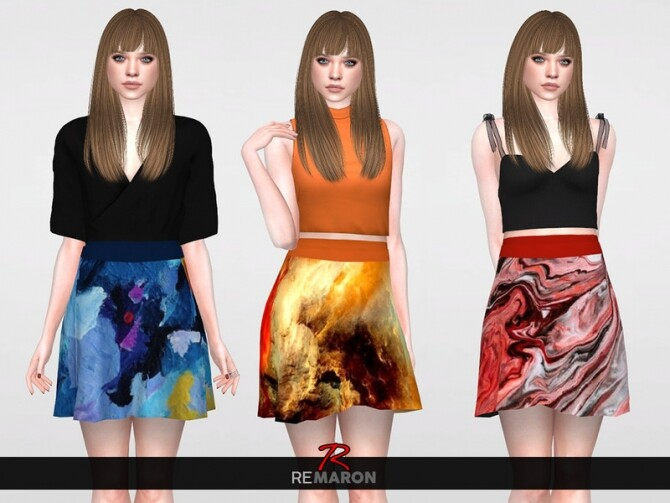 Abstract Skirt for Women 01 by remaron at TSR image Abstract Skirt for Women 01 by remaron 2 670x503 Sims 4 Updates
