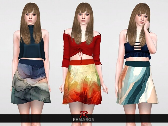 Abstract Skirt for Women 01 by remaron at TSR image Abstract Skirt for Women 01 by remaron 670x503 Sims 4 Updates