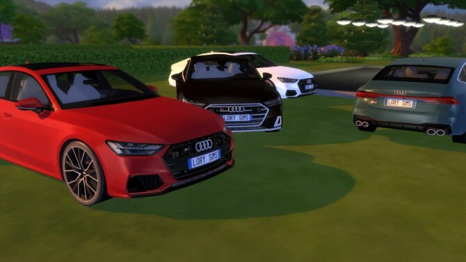 Audi S7 Sportback at LorySims image Audi S7 Sportback red by LorySims 670x377 Sims 4 Updates