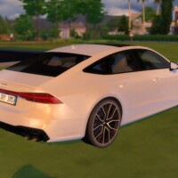 Audi-S7-Sportback-white-back-by-LorySims