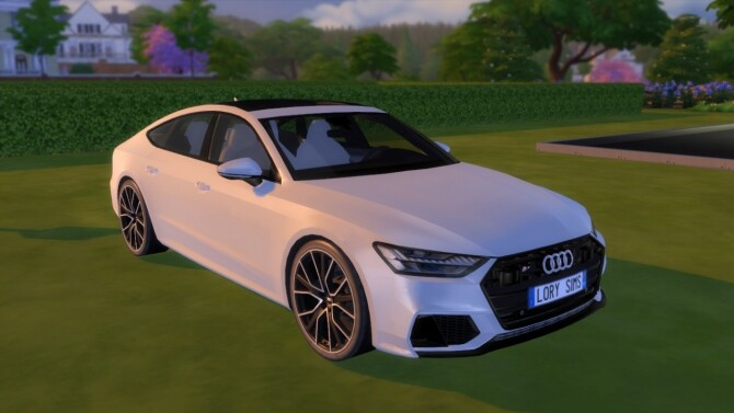 Audi S7 Sportback at LorySims image Audi S7 Sportback white by LorySims 670x377 Sims 4 Updates