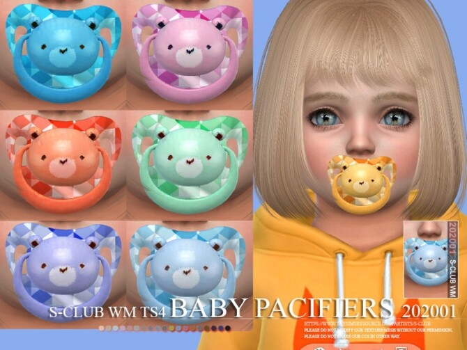 Sims 4 Baby Pacifiers 202001 by S Club WM at TSR