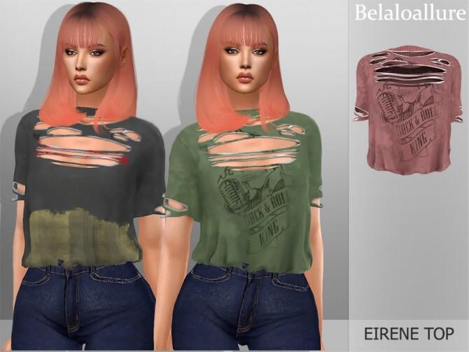 Sims 4 Belaloallure Eirene top by belal1997 at TSR
