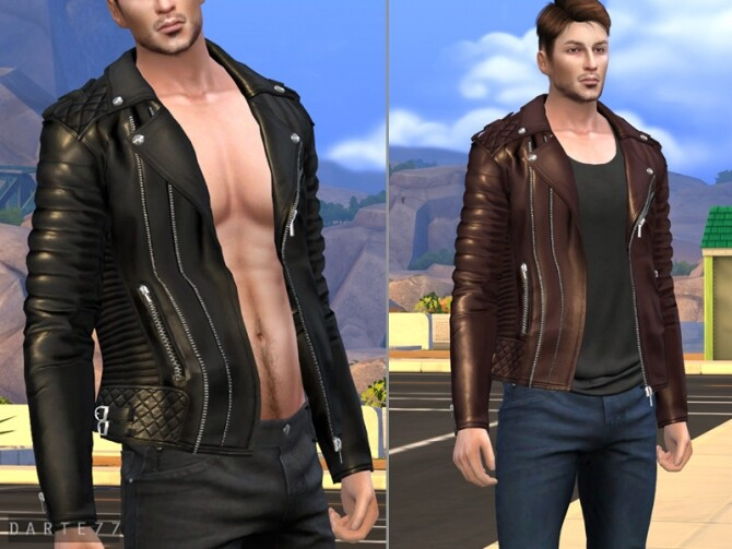 Sims 4 Biker Jacket Males Acc by Darte77 at TSR